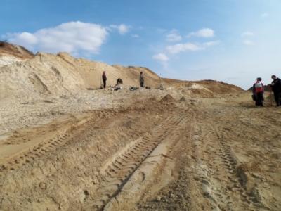Ausblick auf den neuen Abbaubereich. Frührahr 2013