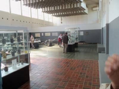 Die ehemalige Kleiderkaue wird zu Ausstellungszwecken genutzt.