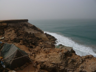 Ein Blick über die Küste bei ad-Dakhla.