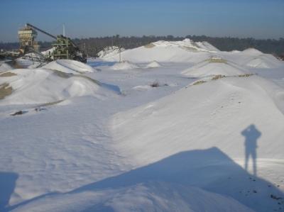 Kiesgrube Terraq, Arcen im Winter