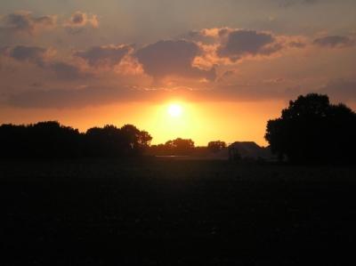 Sonnenuntergang in Tienray