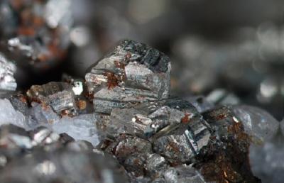 Pyrit, Bildbreite: 6 mm, Sammlung und Foto: Thomas Noll