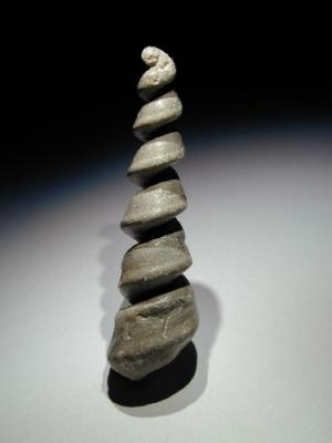 Turritella gradata, (Steinkern), 9,5 cm, Sammlung und Foto: Manfred Hermes