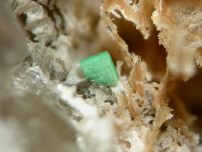 Torbernit, Silbergrube Waidhaus, BB=3mm