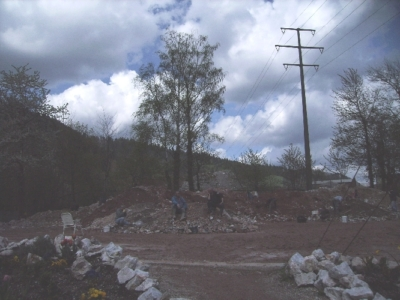 Mineralienhalde April 2008
