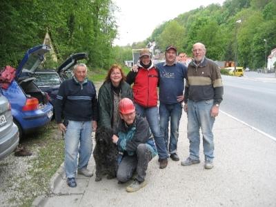 Das Franken - Team v.l. Gerhard, Dana, Martina, Thomas, Heike, Michael und Manfred
