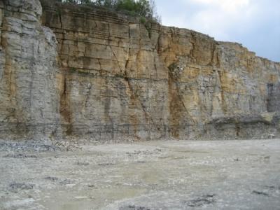 Blick auf die Abbauwände