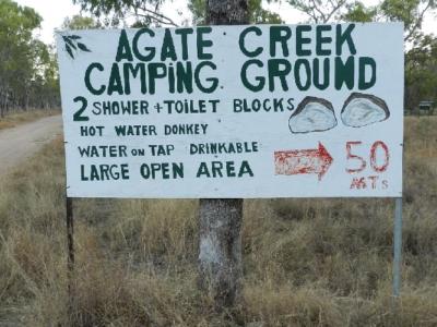 Hier geht's zun Agate Creek Camping