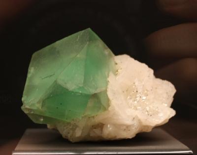 Fluorit auf Calcit, Dalnegorsk, Ferner Osten, Russland