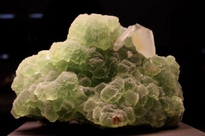 Calcit auf Fluorit, Dalnegorsk, Ferner Osten, Russland