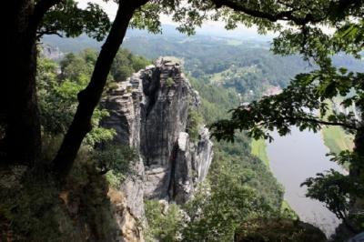 Am Samstag ging es dann in das Elbsandsteingebirge zur Bastei (305 m ü. NN)