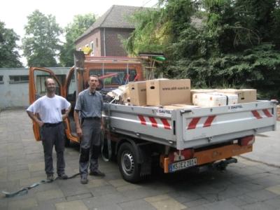 Aber dank tatkräftiger Unterstützung durch den Bauhof der Stadt Erkelenz...