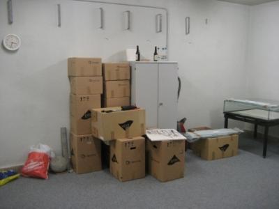 Dank der Kreishandwerkerschaft des Kreises Heinsberg können wir uns im Keller ihres Hauses niederlassen.