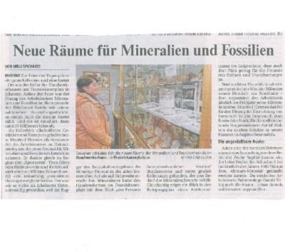 Auch die Presse war bei der Eröffnung mit von der Partie. Alles wird gut. Rheinische Post 28.09.2010