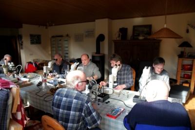 Eifelgipfel. Am 24.02.2018 fand bei den Noll's in Herrath ein Treffen zum Thema Eifelmineralien statt.