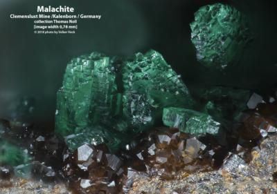 Mineralien aus den Kupfergruben im Siebengebirge