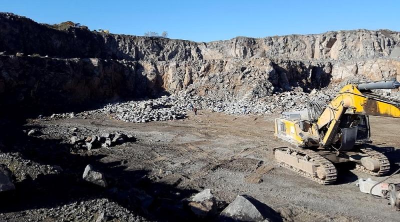 Blick in den Steinbruch Graulay